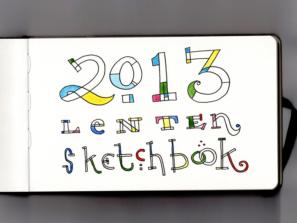 2013 Lenten Sketchbook - Intro
